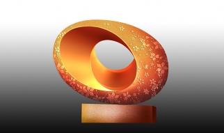 创意圆形抽象雕塑