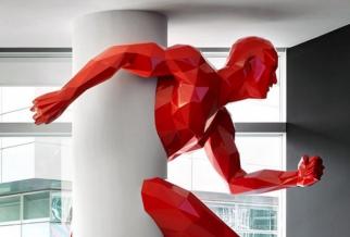 玻璃钢运动人物雕像