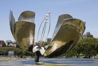 不锈钢雕塑 花